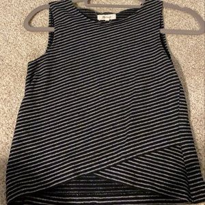 Madewell Black and white crop top